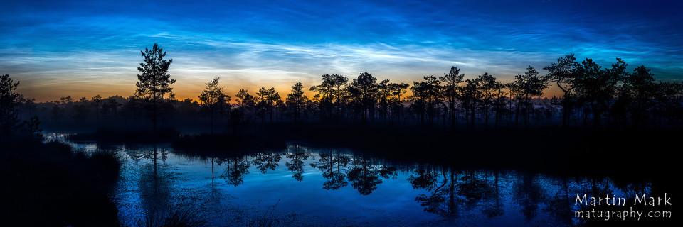 Näituse foto: Helkivad ööpilved Karula rahvuspargi rabas
