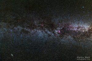 Linnutee ja Andromeeda galaktika otse pea kohal