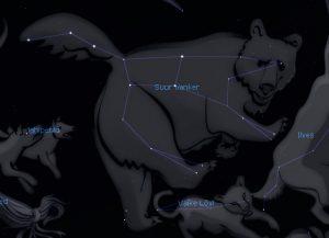 Suur Vanker, mis on osa Suure Karu tähtkujust