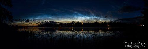 Helkivad ööpilved Eesti sügavaima järve kohal