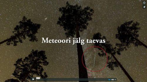 Meteoori jälg taevas