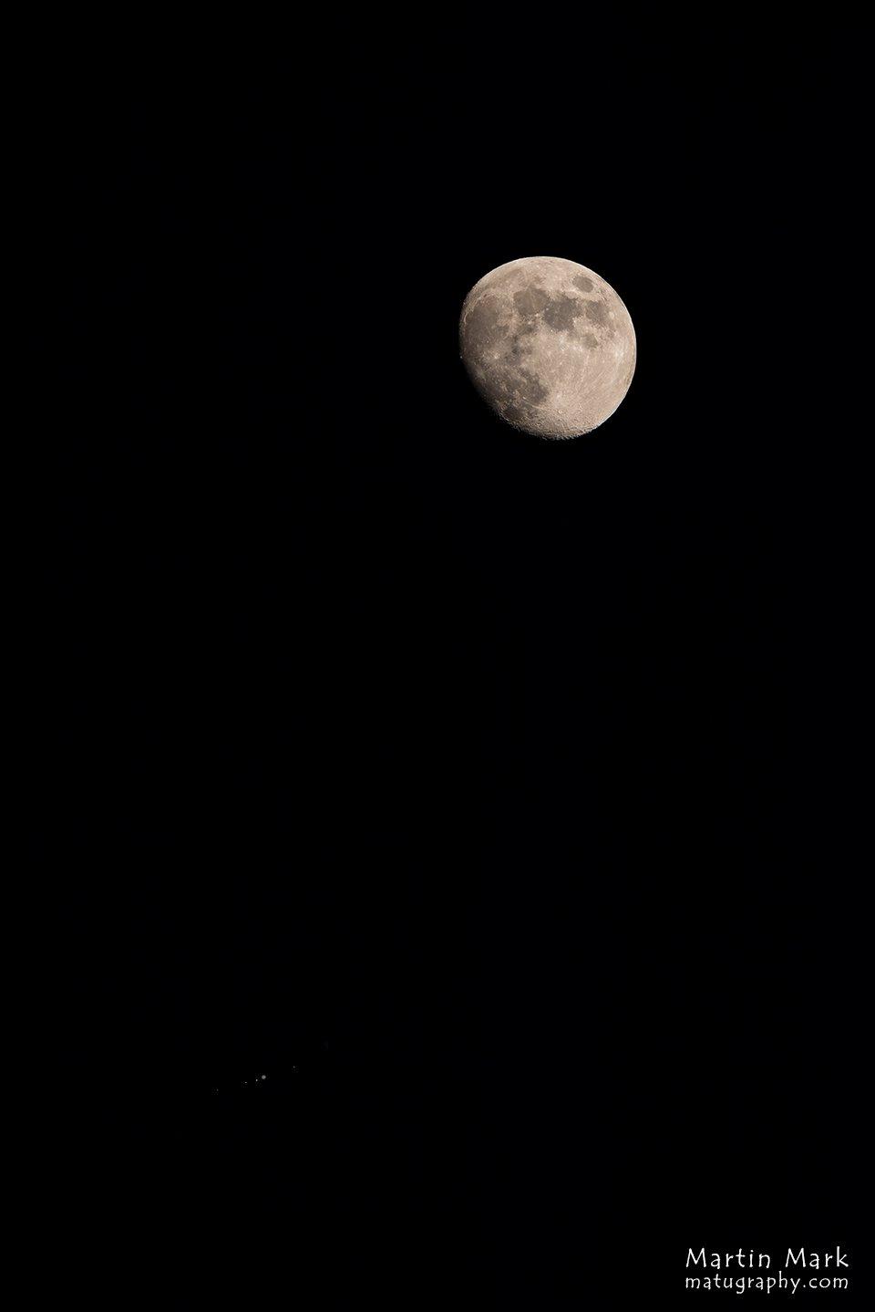 Kuu ja Jupiter oma kuudega